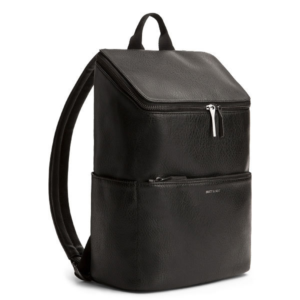 Black Vegan Leather Luxury Backpack Brave Matt Amp Nat