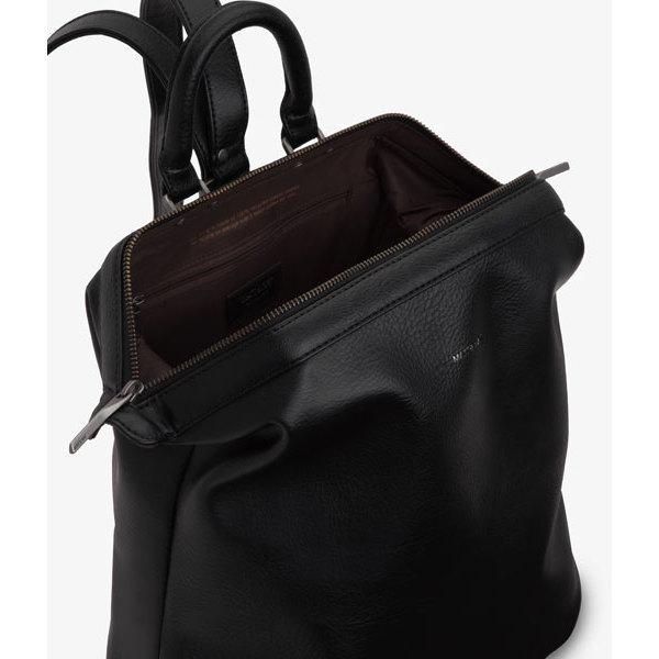 Black Vegan Leather Luxury Backpack Vignelli Matt Amp Nat