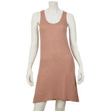 Pink cashmere sleeveless dress