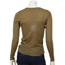 Star dust cashmere V neck Constellation pullover