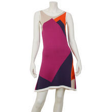 Graphic red & purple Knitt dress