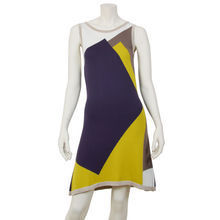Graphic violet Knitt dress