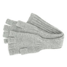 Light grey Alpaca long Mittens - Andes Made