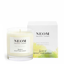 Feel Refreshed scented candle - Sicilian Lemon & Fresh Basil - Neom Organics