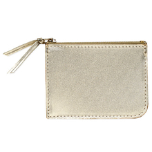Gold leather Zippe wallet