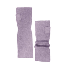 Long and thin fingerless cashmere gloves - Lavander - Muskhane