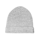 Rib knit cashmere hat - Light grey