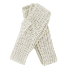 Alpaca long tube Mittens - Ivory - Andes Made