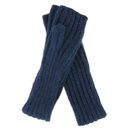 Alpaca long tube Mittens - Navy blue