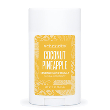 Coconut & Pineapple natural deodorant stick - Sensitive skin formula - Schmidt's