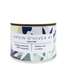 Winter Garden #2 Candle - Leather & Saffron - Samo