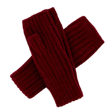 Red Alpaca tube long Mittens - Andes Made