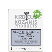 Herbal tea with Sage, Lemon & Greek Saffron  - Krocus Kozanis