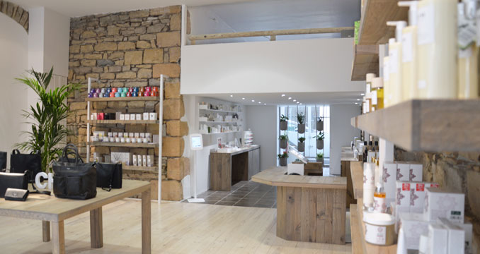 Green and organic concept store