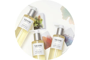 Neom Luxury Organics natural scented candles and organic bath and body products