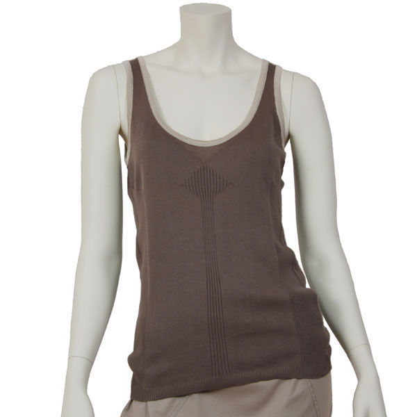 178a0c6b4fe42 Kami organic cotton taupe knitt tank top