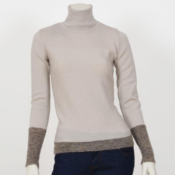 2bf9bef127cae Beige Kami organic wool turtleneck sweater