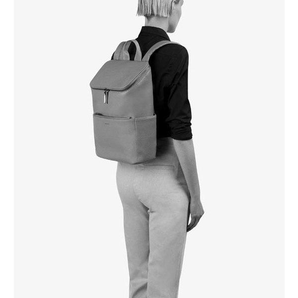 21f7d973a7 Black vegan leather luxury backpack Brave - Matt   Nat