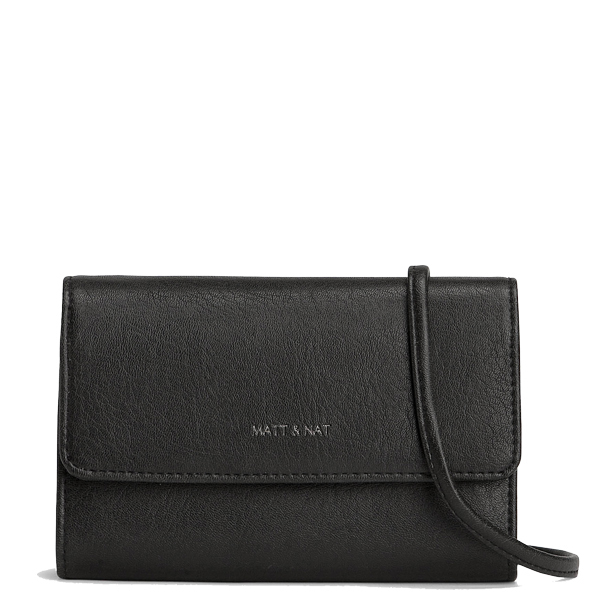 5c50a5b52c Black vegan leather clutch bag Drew - Matt   Nat
