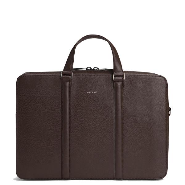 9d3d33d34d8c Chestnut vegan leather luxury business bag Harman - Matt   Nat