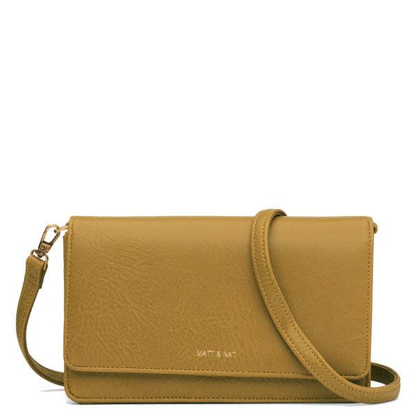 3e110650f Yellow vegan leather crossbody bag Bee - Matt & Nat