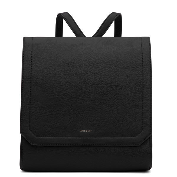 5d18301eb38c Black vegan luxury backpack Mercy - Matt   Nat
