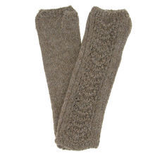 Brown cashlama Flor mittens - Andes Made