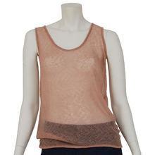 720a46351b592 Loose knitt pink cashmere tank top - Muskhane