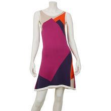 815b909ced95b Graphic red   purple Knitt dress - Kami