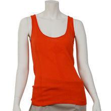 5a3e8fde5e564 Orange knitt tank top - Kami