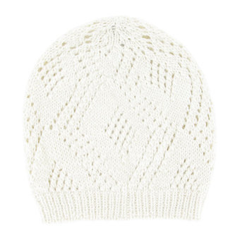 Crema white Alpaca hat - Andes Made