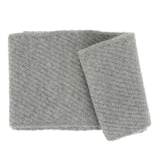Punto light grey Alpaca scarf - Andes Made