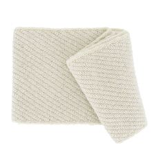 Punto white Alpaca scarf - Andes Made