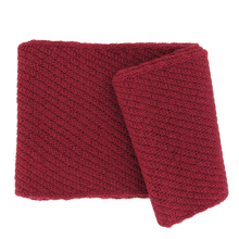 Punto red Alpaca scarf - Andes Made