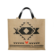 "Large jute canvas Tote ""Inconditionnel"" - Nouveau Monde - Jovens"