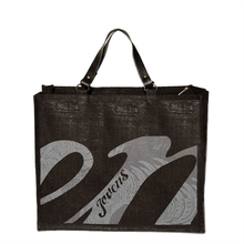 "Large black jute canvas Tote ""Inconditionnel"" - Jovens' Black - Jovens"
