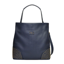 Nightblue leather handbag - Chance - Beliya