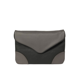 Leather Clutch - Love - Brown/Black - Beliya