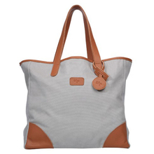 Shopper Bag - Joy - Grey/Caramel - Beliya