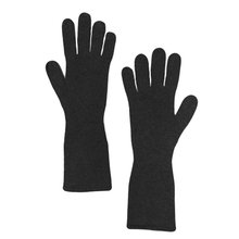 Long cashmere gloves - Black - Muskhane