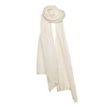 Cosy knit cashmere stole - Ivory - Muskhane