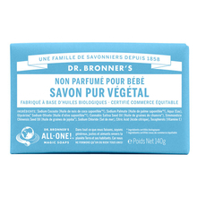 Unscented Pure-Castile bar soap - Baby & sensitive skin - Dr. Bronner