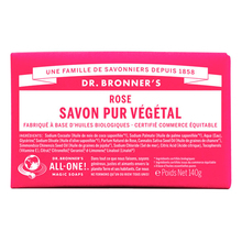 Rose Pure-Castile bar soap - Dr. Bronner