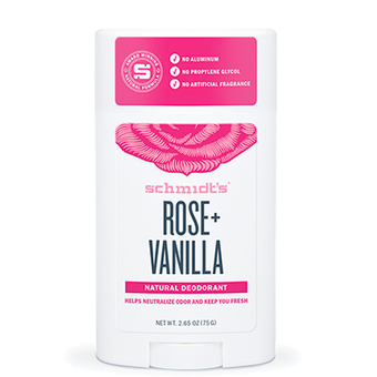 Rose + Vanilla natural deodorant stick - Schmidt's