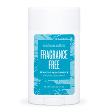 Fragrance-free natural deodorant stick - Sensitive skin formula - Schmidt's