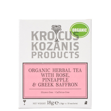 Herbal tea with Rose, Pineapple & Greek Saffron  - Krocus Kozanis