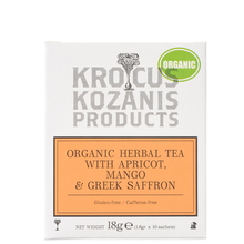 Herbal tea with Apricot, Mango & Greek Saffron  - Krocus Kozanis