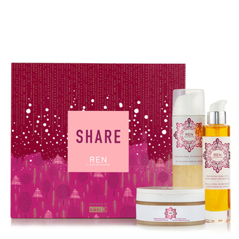 Share Moroccan Rose luxury body care gift set - Ren