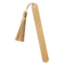 Golden nail file with gold pompom - Kure Bazaar