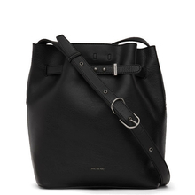 Lexi bucket bag - Black with red interior - Matt & Nat